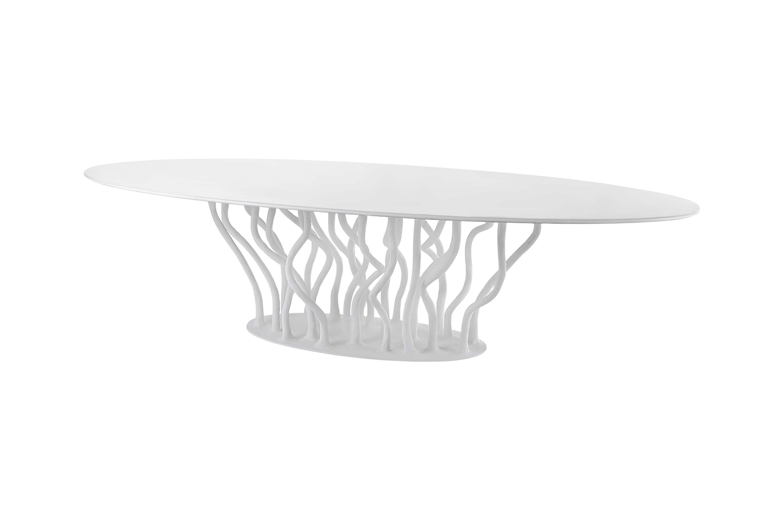 Allana Dining Table Lacquered in White