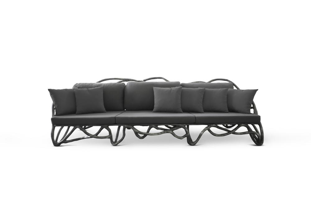 Eros Large Sofa Ardoise