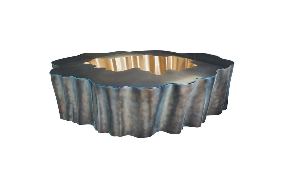 Gaia Coffee Table In Bronze and Gold