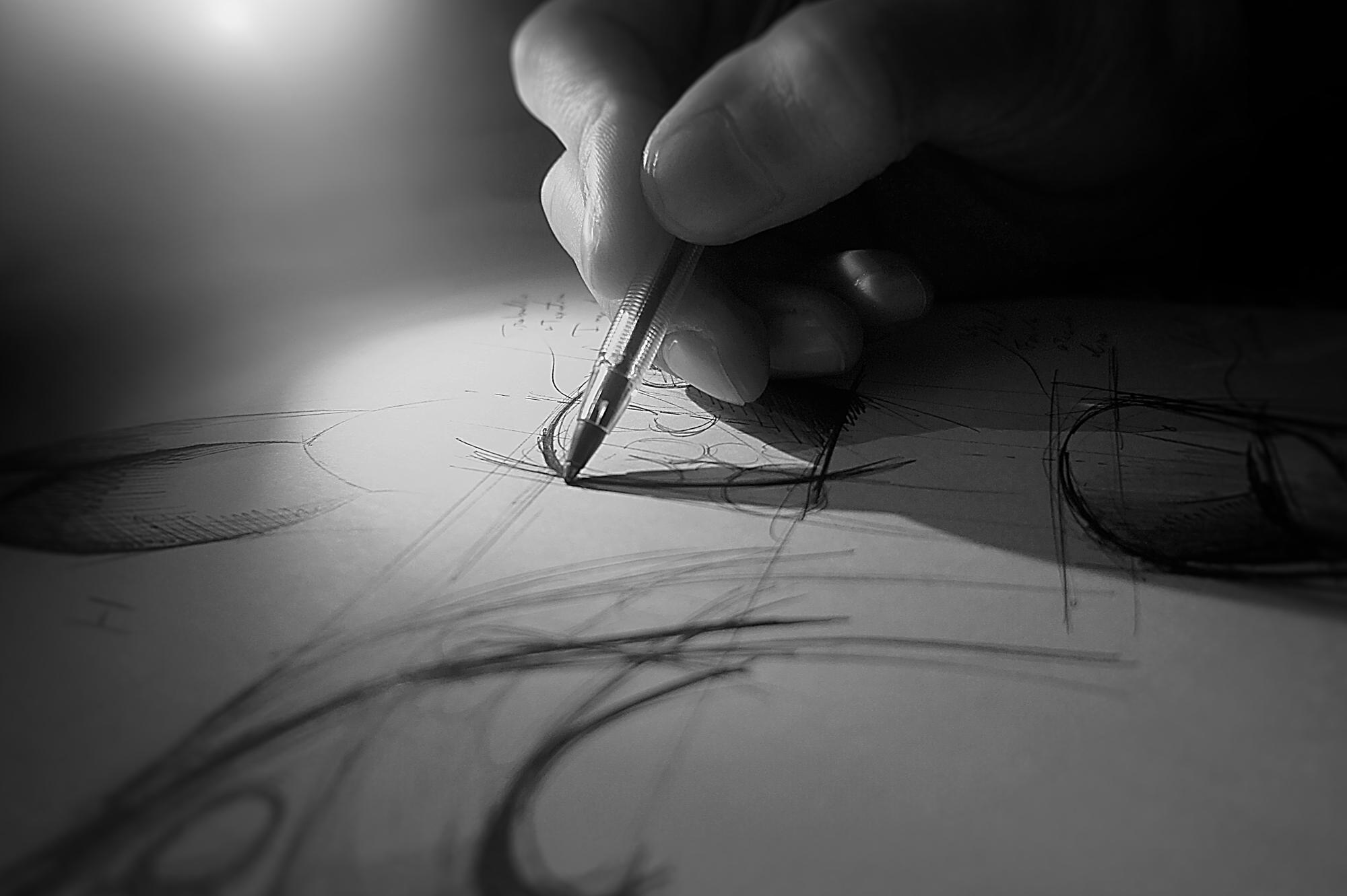 A Desenhar o Cadeirão Triton