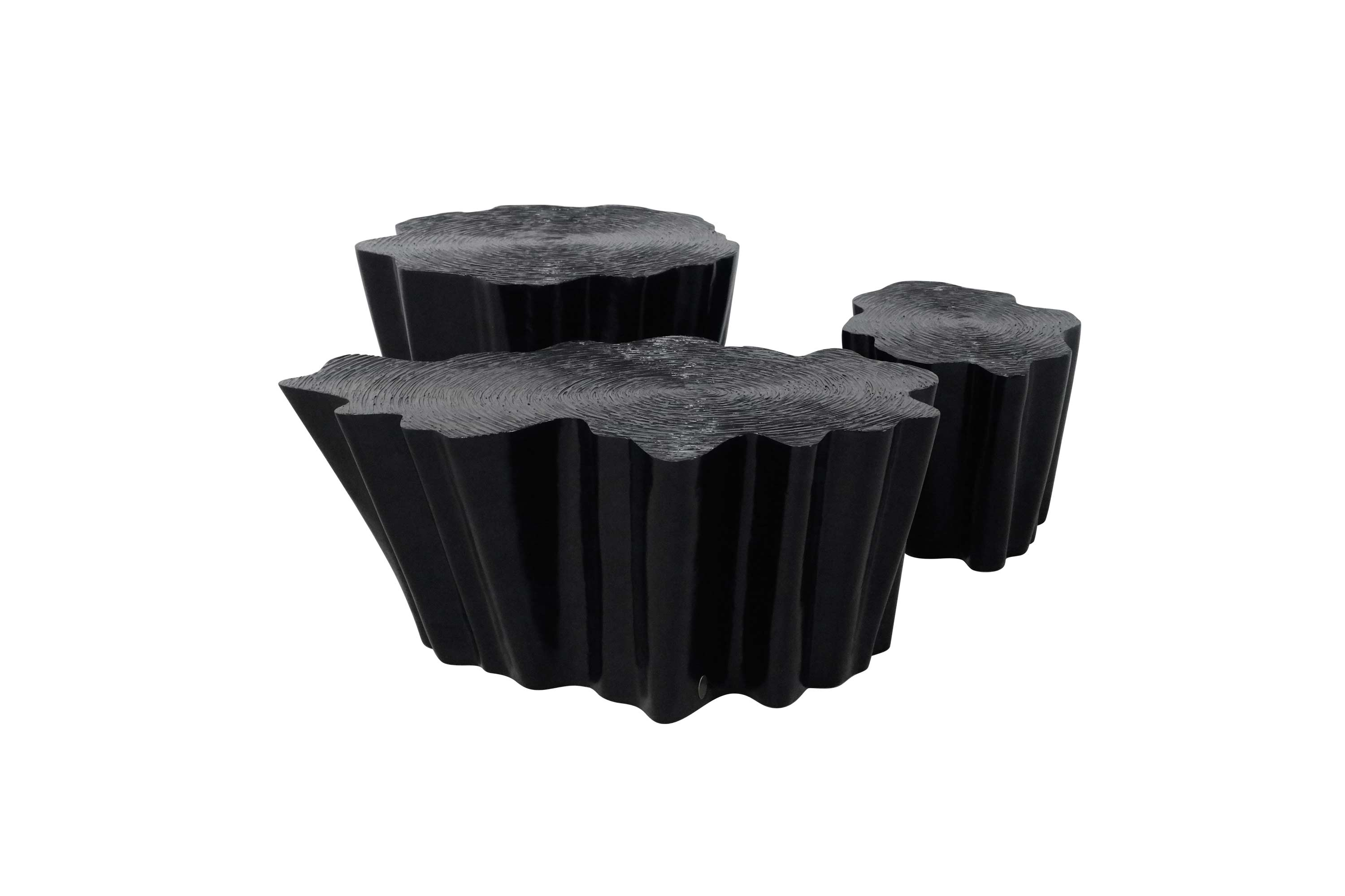 Set of Gaia Coffee Tables in Black Matte